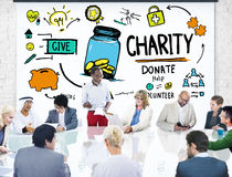 Business People Discussion Meeting Help Donate Charity Concept Stock Image