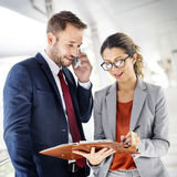 Business People Discussion Mobile Phone Telecommunication Concep Royalty Free Stock Photography