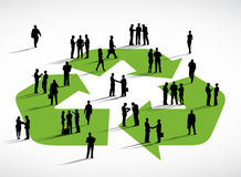 Business People Discussion Recycling Symbol Concept.  royalty free illustration