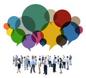 Business People Diverse Standing Communication Concept Stock Photography