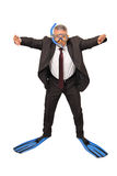 Business people diving royalty free stock photos