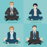 Business people do yoga Stock Photography