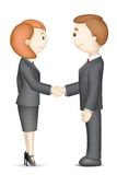 Business People doing Handshake. Illustration of confident 3d business people in vector in handshake gesture Stock Image