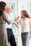 Business people doing handshake after agreement Stock Photos