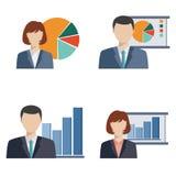 Business people doing presentation Stock Photos