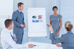 Business people doing statistics presentation Royalty Free Stock Image