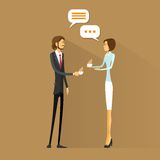 Business people drink coffee, chatting talking on. Break flat design vector illustration Royalty Free Stock Image