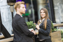 Business people drinking coffee Royalty Free Stock Photography