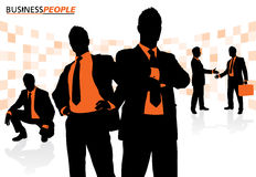 Business People in a Dynamic Pose Royalty Free Stock Image