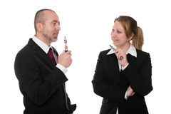 Business people with e-cigarettes Stock Photography