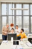 Business people in e-learning workshop. Learning together as team royalty free stock image