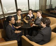 Business people eating. Royalty Free Stock Photos