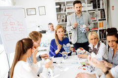 Business people eating in office. Business people eating meals in office royalty free stock image