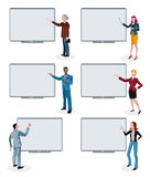 Business People and Empty Digital Whiteboards Stock Photography