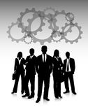 Business people , engineering and industrial concept Royalty Free Stock Photo