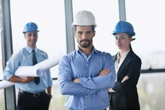 Business people and engineers on meeting Stock Photos