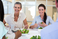 Business people enjoy healthy lunch Stock Photos