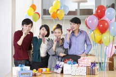 Business People Enjoying Office Party Stock Images