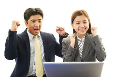 Business people enjoying success Royalty Free Stock Image