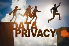 The business people escaping responsibility for data privacy. Business people escaping responsibility for data privacy royalty free stock photo
