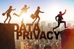 The business people escaping responsibility for data privacy. Business people escaping responsibility for data privacy royalty free stock images