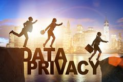 The business people escaping responsibility for data privacy. Business people escaping responsibility for data privacy royalty free stock photos