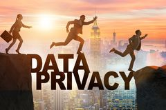 The business people escaping responsibility for data privacy. Business people escaping responsibility for data privacy stock image