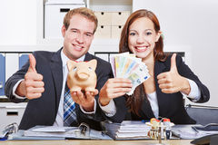 Business people with Euro money Stock Images
