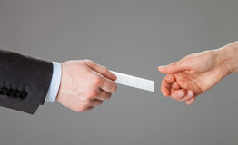 Business people exchanging business card Stock Photo