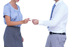 Business people exchanging business card Stock Images