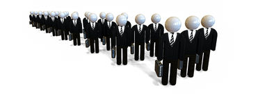 Business People. Experts and Consultants Stock Image
