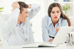 Business People Facing Bankruptcy Stock Images