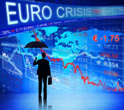 Business People Facing Euro Crisis Stock Photo