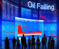 Business People Facing Oil Crisis Stock Photo