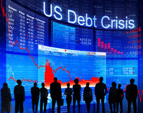 Business People Facing US Debt Crisis Stock Photo