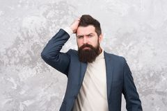 Business people fashion style. Facial hair and grooming. Man handsome bearded businessman wear formal suit. Menswear and. Fashion concept. Guy brutal fashion stock photo
