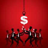 Business people fight for money(dollar) Stock Image