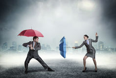 Business people fighting Royalty Free Stock Photos