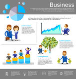 Business People Financial Success Infographic. Businesspeople Vector Illustration Royalty Free Stock Photography