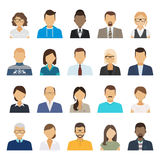 Business people flat avatars