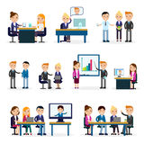 Business People Flat Collection Stock Photo