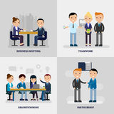 Business People Flat Concept Stock Images