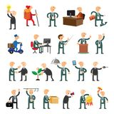 Business people flat design icons Stock Photo