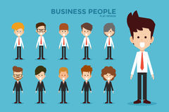 Business people flat design Royalty Free Stock Images