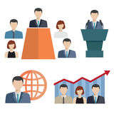 Business people Flat icons Stock Images