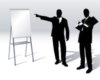 Business people with a flipchart Royalty Free Stock Photography