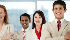 Business people with folded arms Royalty Free Stock Image