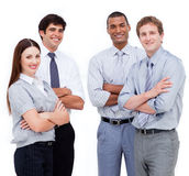Business people with folded arms Stock Photography