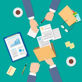 Business People Folder Document Papers Signing Up royalty free illustration
