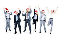 Business People Friendship Celebration Christmas Concept.  Stock Photo